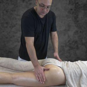 4. Массаж спины продолжение.  Массаж задней поверхности бедер и голени